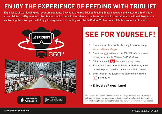 How does the Trioliet Feeding Experience App work?