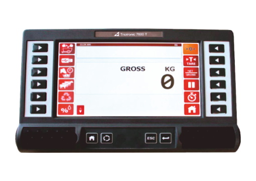 Triotronic weighing computer touch screen
